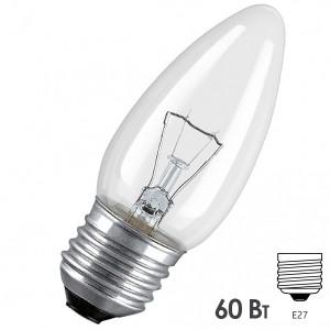 Лампа накаливания свеча Osram CLASSIC B CL 60W E27 прозрачная