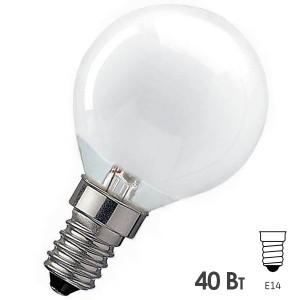 Лампа накаливания шарик Osram CLASSIC P FR 40W E14 матовая