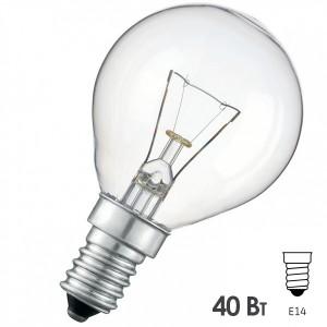 Лампа накаливания шарик Osram CLASSIC P CL 40W E14 прозрачная