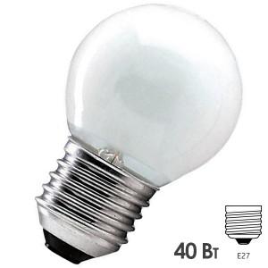 Лампа накаливания шарик Osram CLASSIC P FR 40W E27 матовая