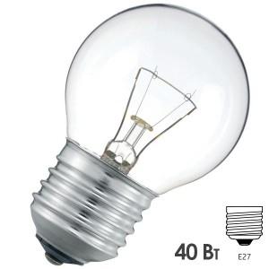 Лампа накаливания шарик Osram CLASSIC P CL 40W E27 прозрачная
