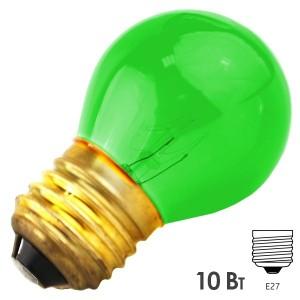 Лампа FOTON DECOR P45 CL 10W E27 230V GREEN/Зеленый