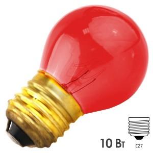 Лампа FOTON DECOR P45 CL 10W E27 230V RED/Красный