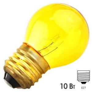 Лампа FOTON DECOR P45 CL 10W E27 230V YELLOW/Желтый