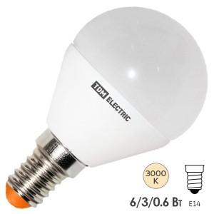 Лампа светодиодная FG45 6W 3000K 230V E14 DIM (3 режима яркости) TDM