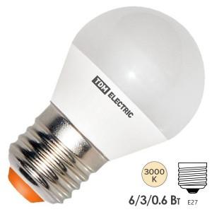 Лампа светодиодная FG45 6W 3000K 230V E27 DIM (3 режима яркости) TDM