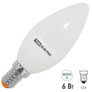 Лампа светодиодная С37 6W 4000K 230V E14 DIM (3 режима яркости) TDM