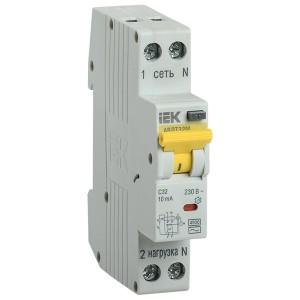Дифференциальный автомат одномодульный АВДТ32М С10А  10мА тип АС 4,5кА ИЭК