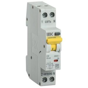 Дифференциальный автомат одномодульный АВДТ32М С20А  10мА тип АС 4,5кА ИЭК