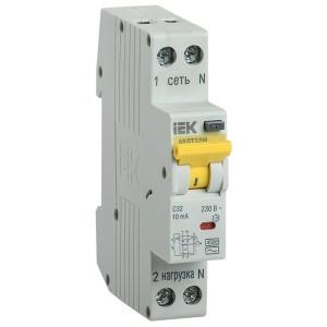 Дифференциальный автомат одномодульный АВДТ32М С25А  10мА тип АС 4,5кА ИЭК