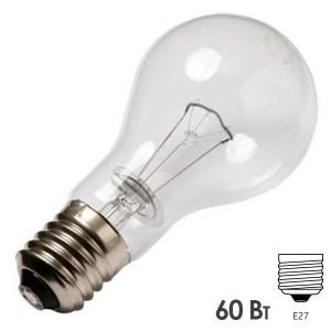 Лампа накаливания 24В 60Вт Е27 прозрачная (МО 24-60)