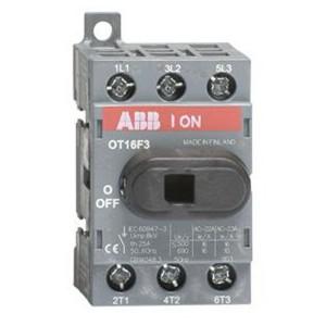 Рубильник OT16F3 до 16А 3х полюсный для установки на DIN-рейку или плату (с резервной ручкой)