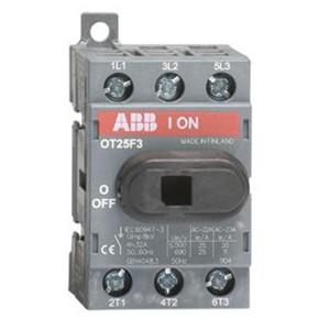 Рубильник OT25F3 до 25А 3х полюсный для установки на DIN-рейку или плату (с резервной ручкой)