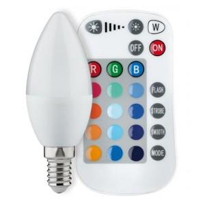 Светодиодная лампа Paulmann свеча RGB LED 3,5W 230V E14 с ИК-пультом