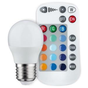 Светодиодная лампа Paulmann шарик LED 3,5W 230V E27 с ИК-пультом