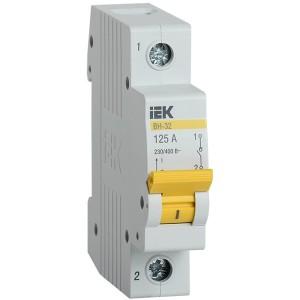 Рубильник модульный ВН-32 1Р125А выключатель нагрузки ИЭК 1 модуль