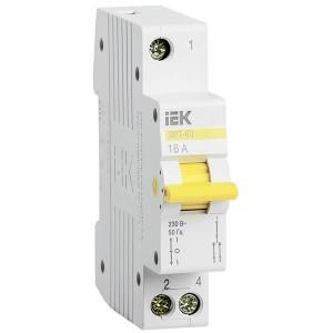 Выключатель-разъединитель трехпозиционный ВРТ-63 1P 16А IEK 1 модуль