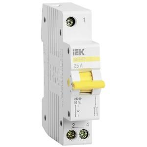 Выключатель-разъединитель трехпозиционный ВРТ-63 1P 25А IEK 1 модуль