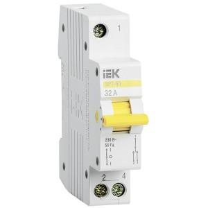 Выключатель-разъединитель трехпозиционный ВРТ-63 1P 32А IEK 1 модуль