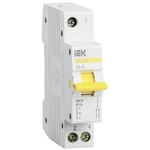 Выключатель-разъединитель трехпозиционный ВРТ-63 1P 40А IEK 1 модуль