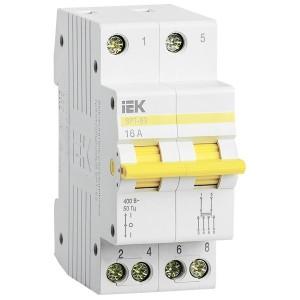 Выключатель-разъединитель трехпозиционный ВРТ-63 2P 16А IEK 2 модуля