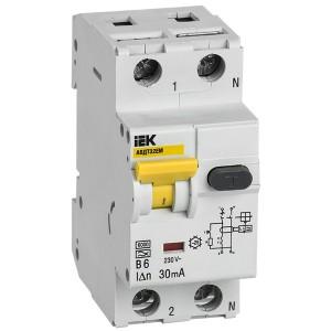Автоматический выключатель дифференциального тока АВДТ32EM В6 30мА тип А ИЭК (автомат)