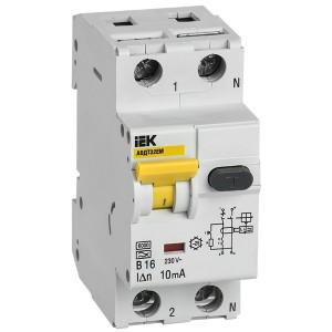 Автоматический выключатель дифференциального тока АВДТ32EM В16 10мА тип А ИЭК (автомат)