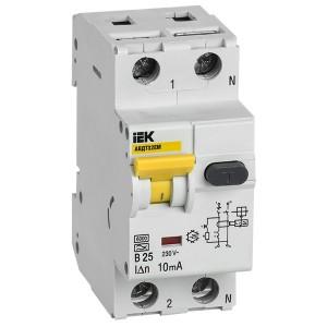 Автоматический выключатель дифференциального тока АВДТ32EM В25 10мА тип А ИЭК (автомат)