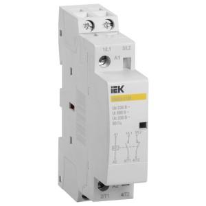 Контактор модульный КМ20-11М AC 20А 2 полюса 1НО+1НЗ катушка 220В ИЭК 1 модуль