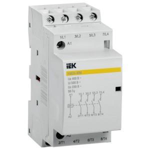 Контактор модульный КМ20-40М AC 20А 4 полюса 4НО катушка 220В ИЭК 2 модуля