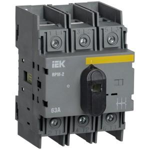 Выключатель-разъединитель модульный ВРМ-2 3P 63А IEK 4 модуля