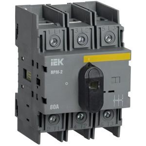 Выключатель-разъединитель модульный ВРМ-2 3P 80А IEK 4 модуля