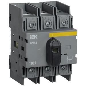 Выключатель-разъединитель модульный ВРМ-2 3P 100А IEK 4 модуля