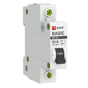Выключатель нагрузки 1P 63А ВН-29 EKF Basic