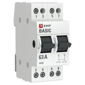 Трехпозиционный переключатель 2P 63А EKF Basic