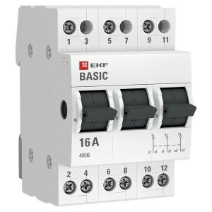 Трехпозиционный переключатель 3P 16А EKF Basic