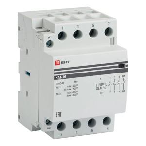 Контактор модульный КМ 16А 3NО+NC 230-400В 3 модуля EKF PROxima
