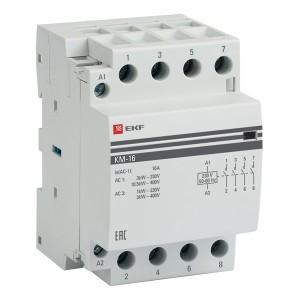 Контактор модульный КМ 16А 4NО 230-400В 3 модуля EKF PROxima