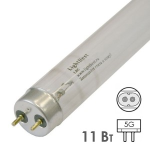Лампа бактерицидная LightBest LBC 11W T5 G5 специальная безозоновая