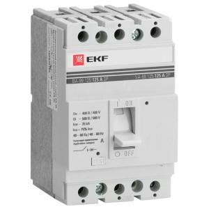 Выключатель автоматический ВА-99  125/ 16А 3P 25кА EKF PROxima