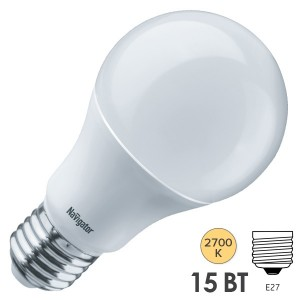 Лампа Navigator 61 200 NLL-A60-15-230-2.7K-E27