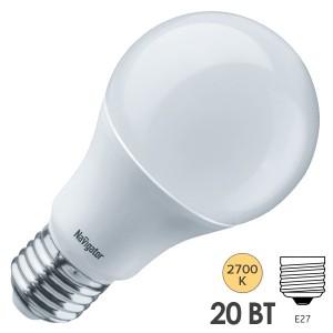 Лампа Navigator 61 386 NLL-A70-20-230-2.7K-E27
