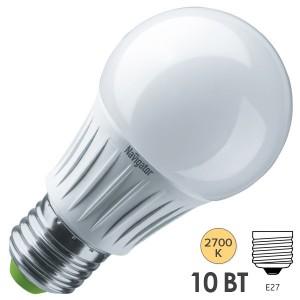 Лампа светодиодная Navigator 14 122 NLL-A60-10-230-2.7K-E27-DIMM 10W 2700K 800Lm D60x108mm