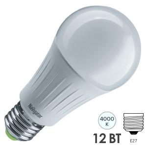 Лампа светодиодная Navigator 61 626 NLL-A60-12-230-2.7K-E27-3STEPDIMM 12W 2700K 1150Lm D60х123mm