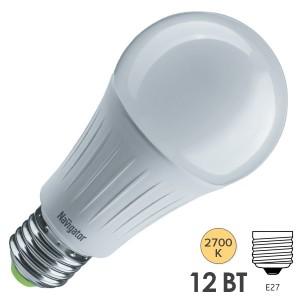 Лампа светодиодная Navigator 61 627 NLL-A60-12-230-4K-E27-3STEPDIMM 12W 4000K 1150Lm D60х123mm