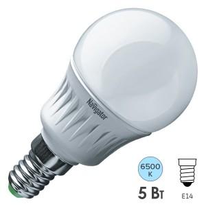Лампа Navigator 61 252 NLL-P-G45-5-230-6.5K-E14