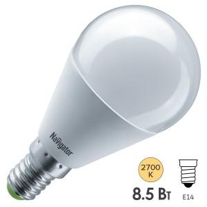 Лампа Navigator 61 333 NLL-G45-8.5-230-2.7K-E14
