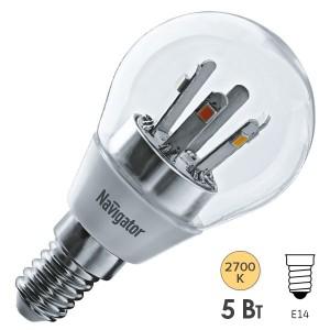 Лампа Navigator 71 294 NLL-G45-5-230-2.7K-E14-CL