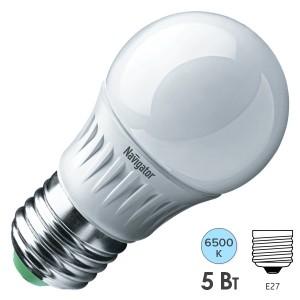 Лампа Navigator 61 253 NLL-P-G45-5-230-6.5K-E27