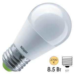 Лампа Navigator 61 336 NLL-G45-8.5-230-2.7K-E27